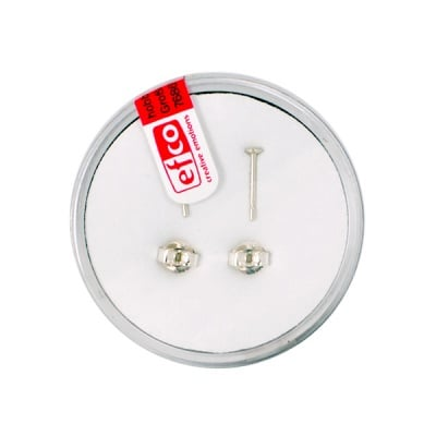 Щифт за обица с конус, Silver 925 / 2 - части, 10 mm, 2 бр.