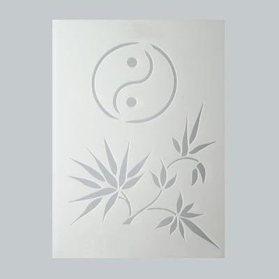 Шаблон, бамбук, 2 части, DIN A5