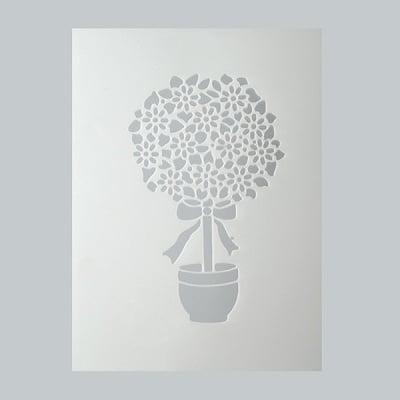 Шаблон, цветя, 1 част, DIN A5