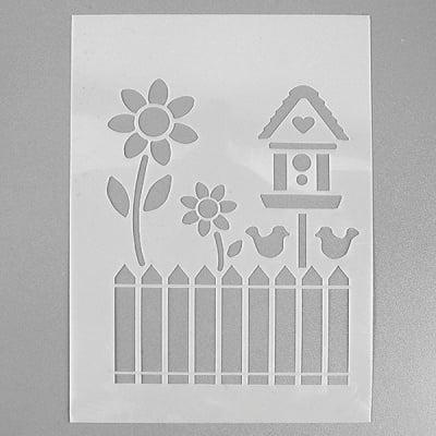 Шаблон, градина, 4 части, DIN A5