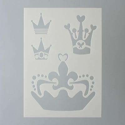 Шаблон, корона, 4 части, DIN A5