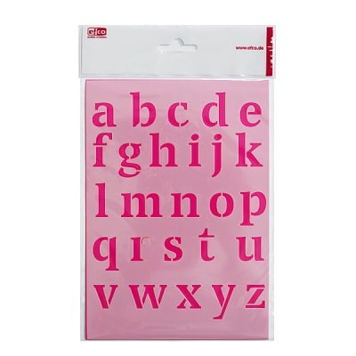 Шаблон, малки букви, A 5