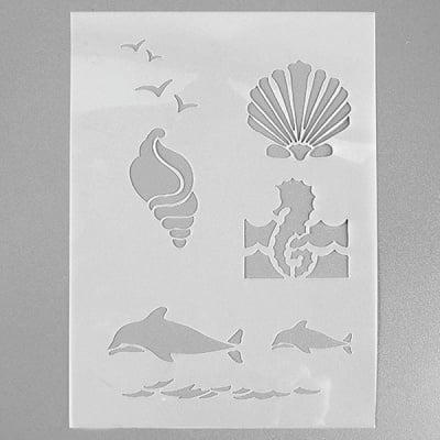 Шаблон, морски създания, 4 части, DIN A5