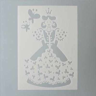 Шаблон, принцеса 2 части, DIN A5