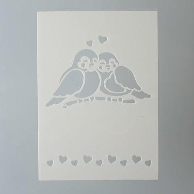 Шаблон, птици, 2 части, DIN A5
