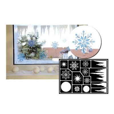 Шаблон за декориране на прозорци Window Style, Eiskristalle