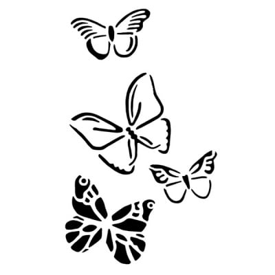 Шаблон за татуировка FANTASY Tattoo, пеперуди