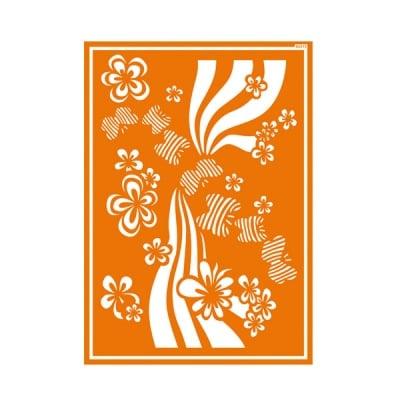 Шаблон за текстил самозахващащ се JAVANA, Flower Power