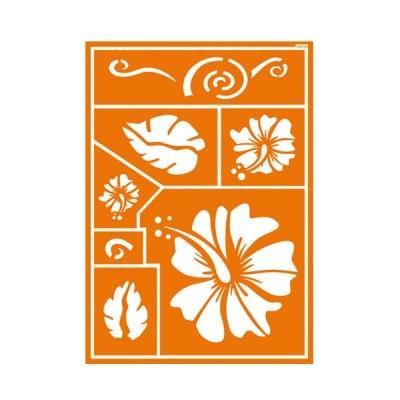 Шаблон за текстил самозахващащ се JAVANA, Hawaii Flower