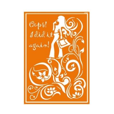 Шаблон за текстил самозахващащ се JAVANA, Shopping Girl