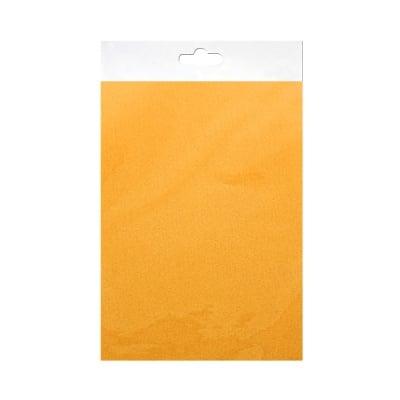 Шифонен шал от естествена коприна, Chiffon, 55 x 180 mm, жълт