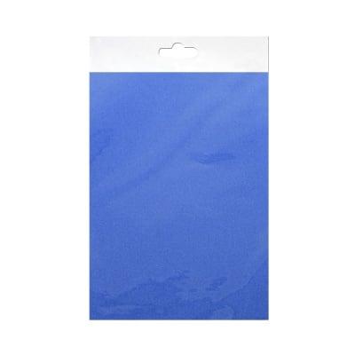Шифонен шал от естествена коприна, Chiffon, 55 x 180 mm, син