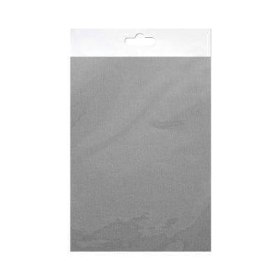 Шифонен шал от естествена коприна, Chiffon, 55 x 180 mm, сив