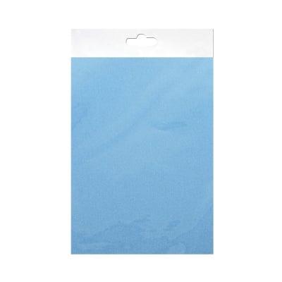 Шифонен шал от естествена коприна, Chiffon, 55 x 180 mm, светлосин