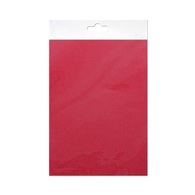 Шифонен шал от естествена коприна, Chiffon, 55 x 180 mm, тъмно червен