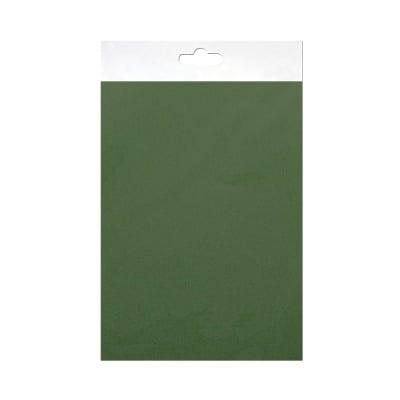 Шифонен шал от естествена коприна, Chiffon, 55 x 180 mm, тъмно зелен