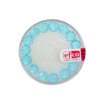 Шлифовани, многост. перли Brilliance, 4x6 mm, 15 бр., светлотюркоазени