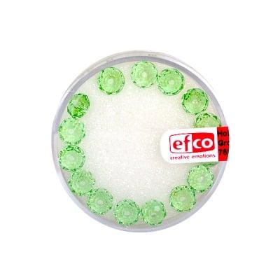 Шлифовани, многост. перли Brilliance, 4x6 mm, 15 бр., светлозелени