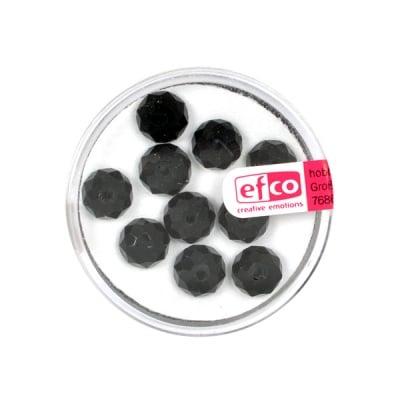 Шлифовани, многост. перли Brilliance, 6x8 mm, 10 бр.,черни