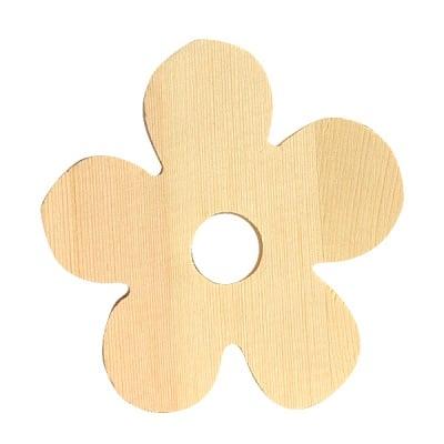 "Символ декоративен RicoDesign, ""FLOWER"", натурално дърво, 8 cm"