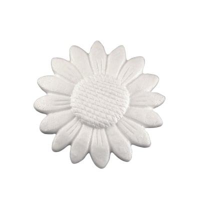 Слънчоглед от стиропор, бял, ф 150 mm