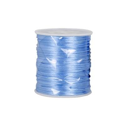 Сплетен шнур, сатен, 1,0 mm, 50 м. ролка,  люляк