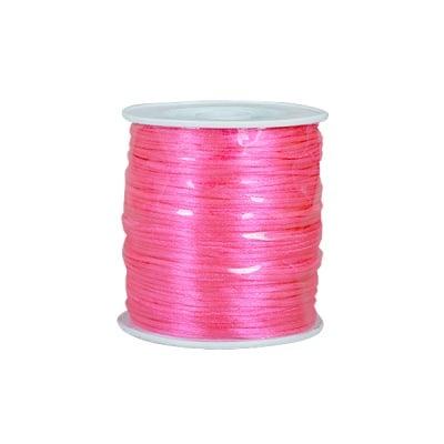 Сплетен шнур, сатен, 1,0 mm, 50 м. ролка, роза