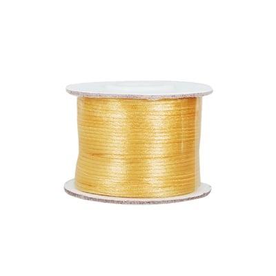 Сплетен шнур, сатен, 1,0 mm, 50 м. ролка, злато