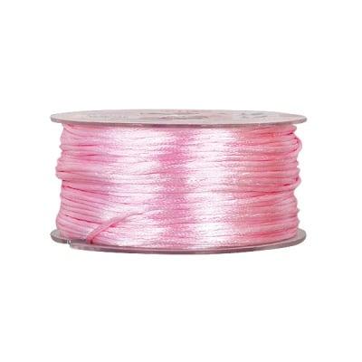 Сплетен шнур, сатен, 1.5 mm ,50 м. ролка, роза