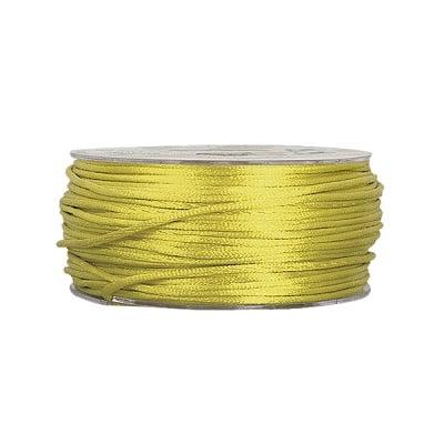 Сплетен шнур, сатен, 1.5 mm, 50 м. ролка, зелен