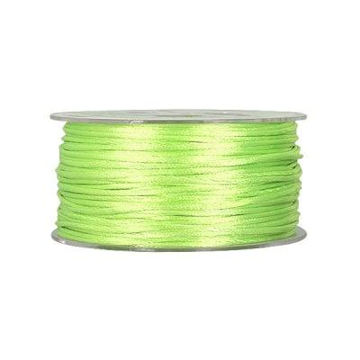 Сплетен шнур, сатен, 1.5 mm,50 м. ролка, светло зелен
