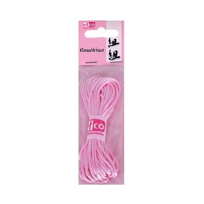 Сплетен шнур, сатен, 2 mm / 6 m, роза