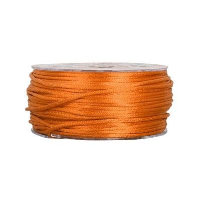 Сплетен шнур, сатен, 2 mm, 50 м. ролка, светло кафяв