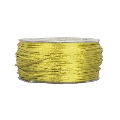 Сплетен шнур, сатен, 2 mm, 50 м. ролка, зелен