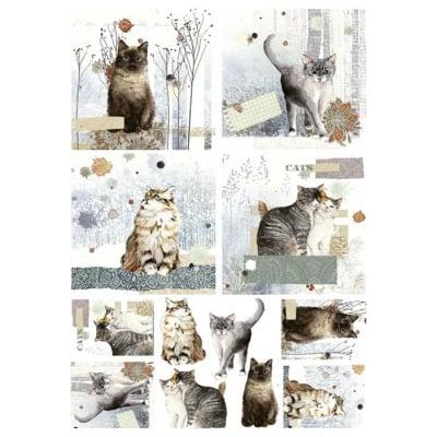 Декупажна тишу хартия, CATS, 35 x 50 cm