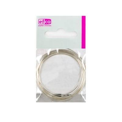 Сребърна бижутерска тел, 0,6 mm x 100 cm, Silver 925