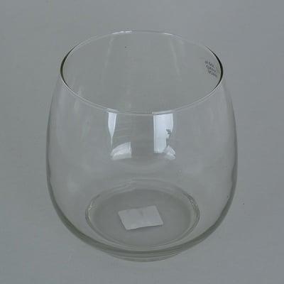 Стъклена поставка за свещ, 14,5 x ф 14,5 cm, ръчна изработка