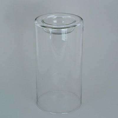 Стъклена поставка за свещ, 25 х 13 cm, 2 бр., ръчна изработка