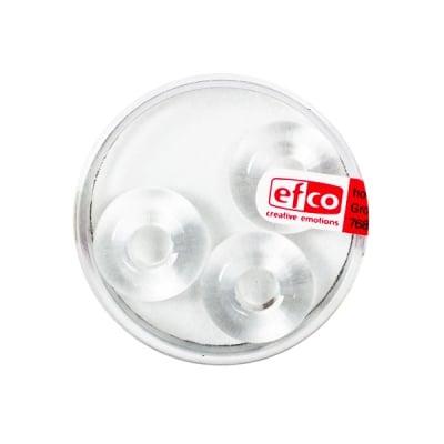 Стъклени перли Ring, широк отвор, 11x17 mm, 3 бр., кристал