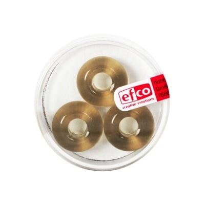 Стъклени перли Ring, широк отвор, 11x17 mm, 3 бр., сиви