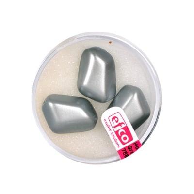Стъклени восъчни перли, 18x13 mm, 3 бр., антрацит