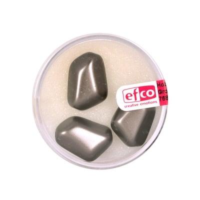 Стъклени восъчни перли, 18x13 mm, 3 бр., тъмнокафяви