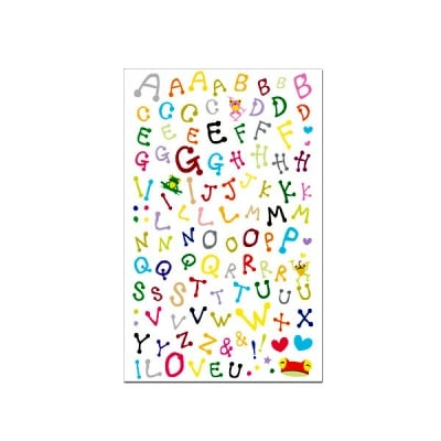 STICKER LETTERS, MULTICOLORED