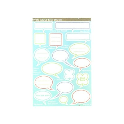 STICKER SPEECH BALLONS 5 PC