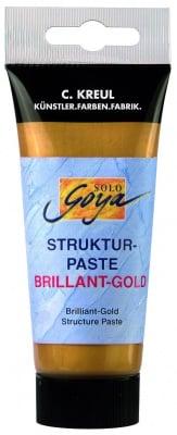 Структурна паста Solo GOYA, искрящо златна