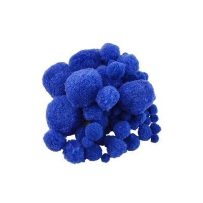 Помпони, ф 10-45 mm, 100 бр., сини
