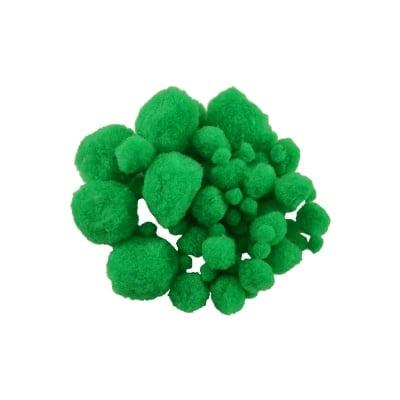 Помпони, ф 10-45 mm, 100 бр., зелени