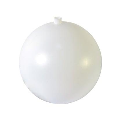 Топка с отвор 8 mm от пластмаса, ф 120 mm, бяла