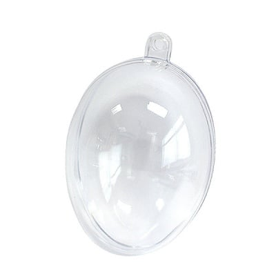 Яйце от пластмаса, H 100 mm, прозрачна
