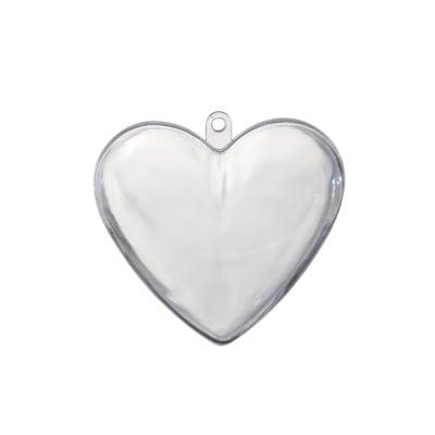 Сърце от пластмаса, H 100 mm, прозрачна
